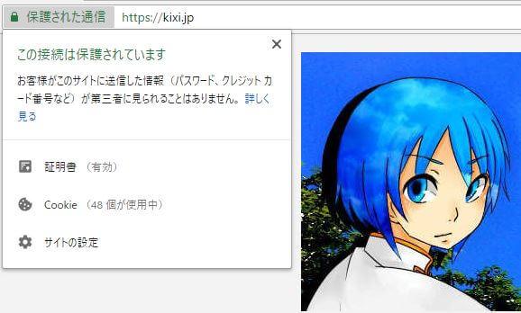 Kixiの雑記帳 SSL化