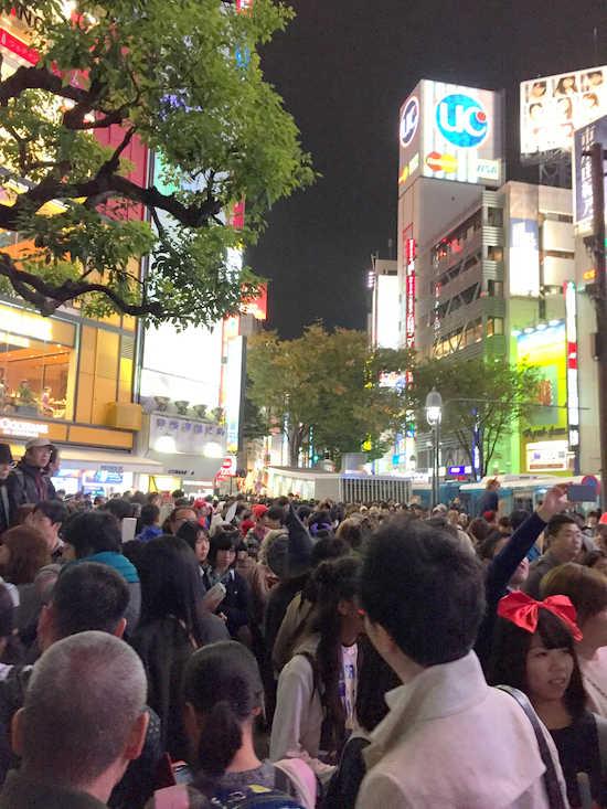 渋谷 ハロウィン 人混み