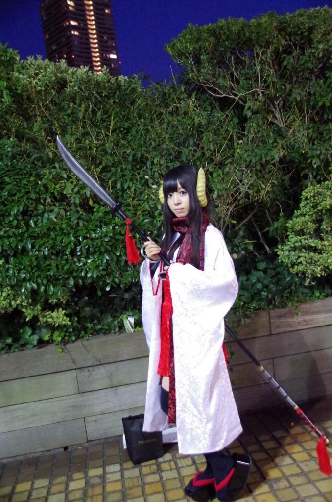 池袋ハロウィン コスプレ 和服薙刀